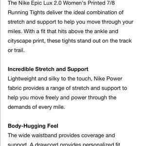 3de580edd6cc7 Nike Pants - NIKE EPIC LUX 2.0 Printed 7 8 Running 874745 465